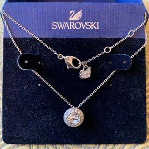 Swarovski CZ pendant sterling silver necklace